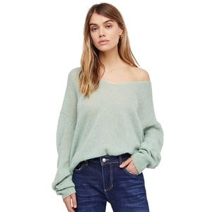 NWOT Free People Gossamer V Neck Sweater